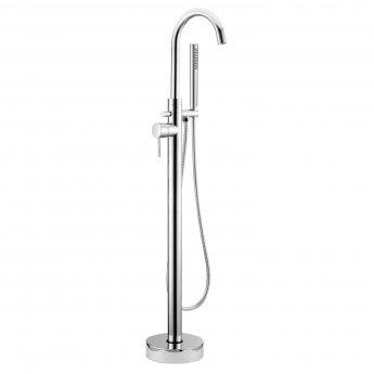 RAK Prima Tech Freestanding Bath Shower Mixer Tap - Chrome