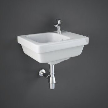 RAK Resort Right Handed Wall Hung Basin, 360mm Wide, 1 Tap Hole