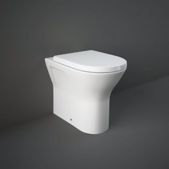 RAK Resort Rimless Back to Wall Pan 450mm Extended Height - Soft Close Seat