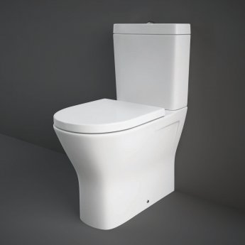 RAK Resort Maxi Close Coupled Back to Wall Rimless Toilet WC Pack - Soft Close Seat
