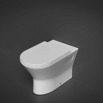 RAK Resort Back to Wall Rimless Pan 425mm Comfort Height - Slim Sandwich Soft Close Seat