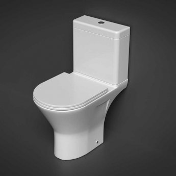 RAK Resort Maxi Close Coupled Full Access Rimless Toilet WC Pack - Sandwich Soft Close Seat