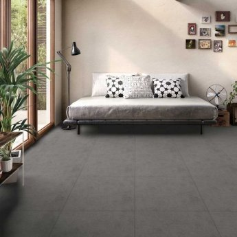 RAK Revive Concrete Matt Tiles - 370mm x 750mm - Concrete Grey (Box of 4)