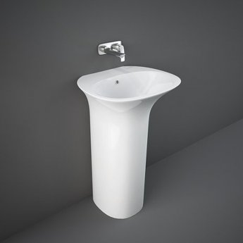 RAK Sensation Basin with Full Pedestal 550mm Wide - 0 Tap Hole