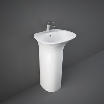 RAK Sensation Basin with Full Pedestal 550mm Wide - 1 Tap Hole