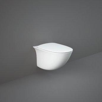 RAK Sensation Maxi Rimless Wall Hung Toilet 520mm Projection - Soft Close Seat (Urea)