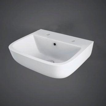 RAK Series 600 Cloakroom Basin 400mm Wide 2 Tap Hole