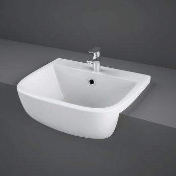 RAK Series 600 Semi-Recessed Basin 420mm Wide 1 Tap Hole