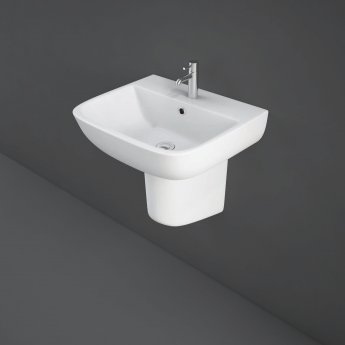 RAK Series 600 Basin & Semi Pedestal 520mm Wide 1 Tap Hole