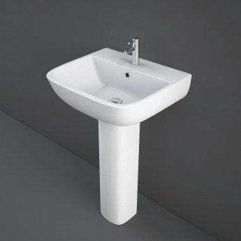 RAK Series 600 Basin & Full Pedestal 520mm Wide 1 Tap Hole