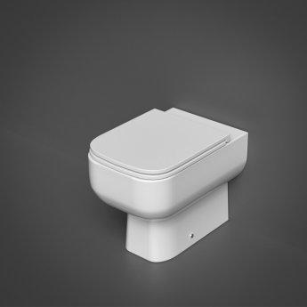 RAK Series 600 Rimless Back to Wall Toilet - Slimline Sandwich Urea Soft Close Seat