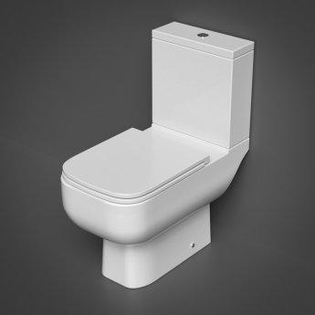 RAK Series 600 Close Coupled Toilet with Dual Flush Cistern - Slim Sandwich Urea Soft Close Seat