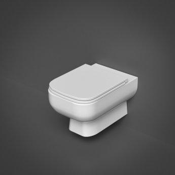 RAK Series 600 Rimless Wall Hung Toilet with Hidden Fixations - Slim Sandwich Urea Soft Close Seat