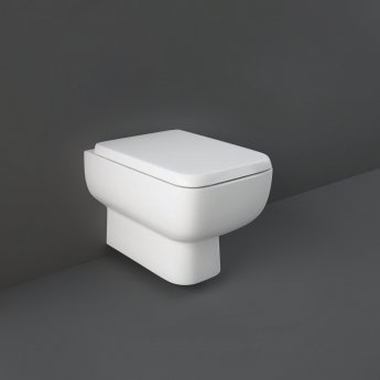 RAK Series 600 Rimless Wall Hung Toilet with Hidden Fixations - Slim Wrap Over Urea Soft Close Seat