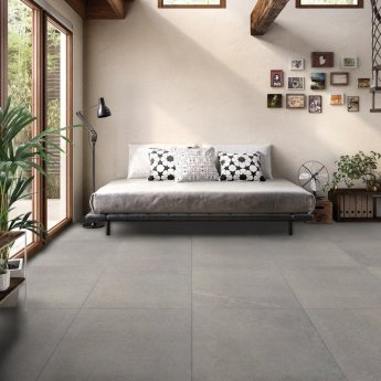RAK Shine Stone Porcelain Tiles - 750mm x 750mm - Grey (Box of 2)