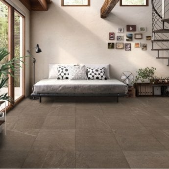 RAK Shine Stone Matt Tiles - 50mm x 600mm - Brown (Box of 36)