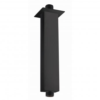 RAK Ceiling Mounted Square Shower Arm 250mm Length - Black