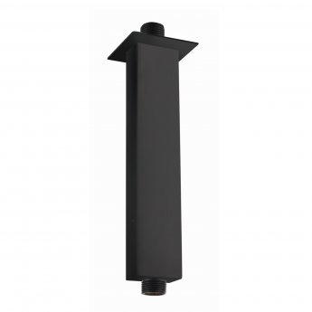 RAK Ceiling Mounted Square Shower Arm 120mm Length - Black