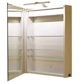 RAK Solitaire Mirrored Bathroom Cabinet 700mm H x 550mm W Aluminium