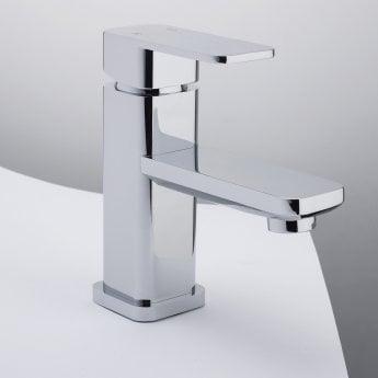 RAK Square Mini Mono Basin Mixer Tap Single Handle Chrome