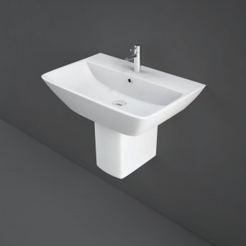 RAK Summit Basin & Semi Pedestal 500mm Wide 1 Tap Hole