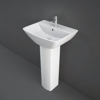 RAK Summit Basin with Full Pedestal 500mm Wide - 1 Tap Hole