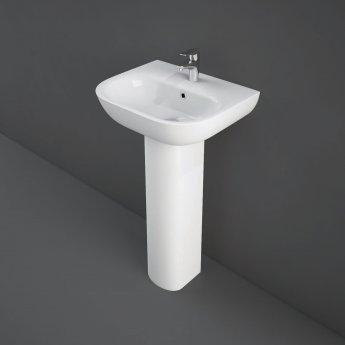 RAK Tonique Basin & Full Pedestal 450mm Wide 1 Tap Hole