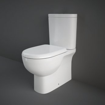 RAK Tonique Close Coupled BTW Toilet with Soft Close Seat - White