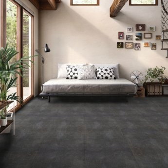 RAK Valley Stone Matt Tiles - 600mm x 1200mm - Dark Grey (Box of 2)