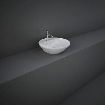 RAK Variant Round Countertop Wash Basin 420 Wide 1 Tap Hole  - Alpine White