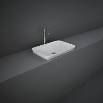 RAK Variant Rectangular Drop-In Wash Basin 550mm Wide 0 Tap Hole - Alpine White