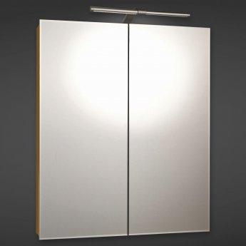 RAK Vogue Mirrored Bathroom Cabinet 700mm H x 600mm W Aluminium