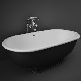 RAK Washington Freestanding Bath 1560mm X 810mm - Black