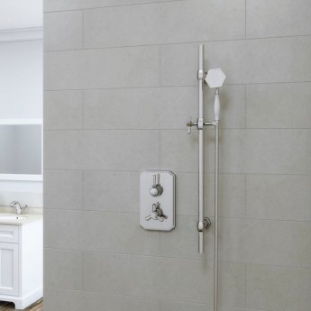 RAK Washington Thermostatic Dual Outlet Concealed Shower Valve - Chrome