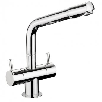 Rangemaster Aquapro AP1 Kitchen Sink Mixer Tap Dual Lever Pull Out - Chrome