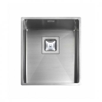 Rangemaster Atlantic Kube KUB34 1.0 Bowl Undermount Kitchen Sink 370mm L x 430mm W Stainless