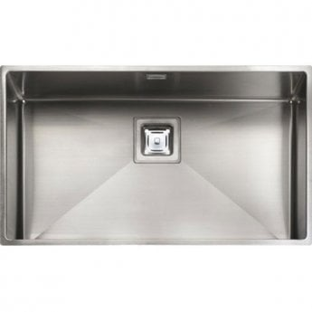 Rangemaster Atlantic Kube KUB70 1.0 Bowl Undermount Kitchen Sink 730mm L x 430mm W Stainless