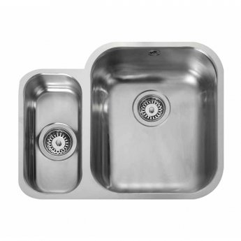 Rangemaster Atlantic Classic 1.5 Bowl Undermount Kitchen Sink 597mm L x 472mm W Stainless