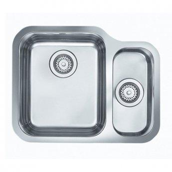 Rangemaster Atlantic Classic UB3515R 1.5 Bowl Undermount Kitchen Sink RH 597mm x 472mm Stainless