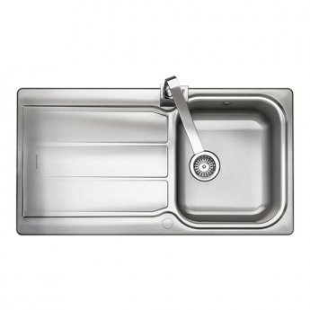 Rangemaster Glendale GL9501 1.0 Bowl Reversible Kitchen Sink 950mm L x 508mm W - Stainless Steel