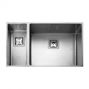 Rangemaster Kube 1.5 Bowl Kitchen Sink LH 740mm L x 430mm W - Stainless Steel