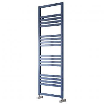 Reina Bolca Designer Heated Towel Rail 870mm H x 485mm W Blue Satin