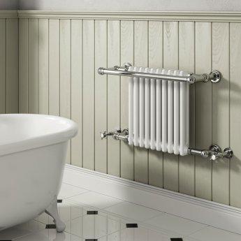Reina Camden Radiator Heated Towel Rail 508mm H x 680mm W White/Chrome