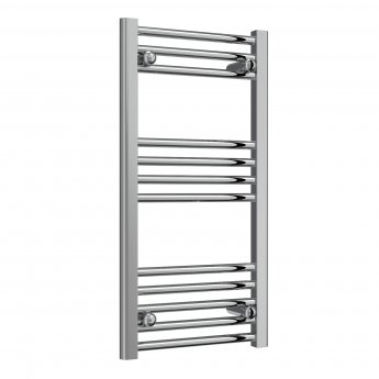 Reina Capo Straight Thermostatic Electric Heated Towel Rail 800mm H x 400mm W Chrome