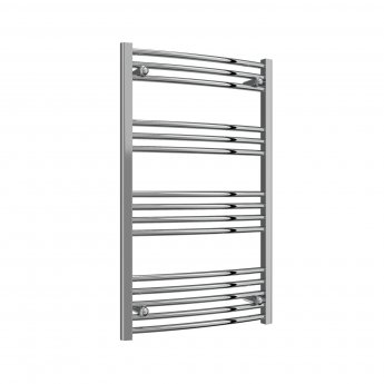 Reina Capo Curved Thermostatic Electric Heated Towel Rail 1000mm H x 600mm W Chrome
