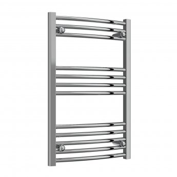 Reina Capo Curved Thermostatic Electric Heated Towel Rail 800mm H x 500mm W Chrome