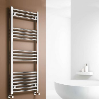 Reina Capo Straight Heated Towel Rail 1600mm H x 400mm W Chrome
