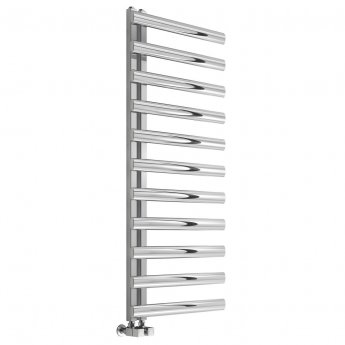 Reina Cavo Designer Heated Towel Rail 1580mm H x 500mm W Brushed Stainless Steel