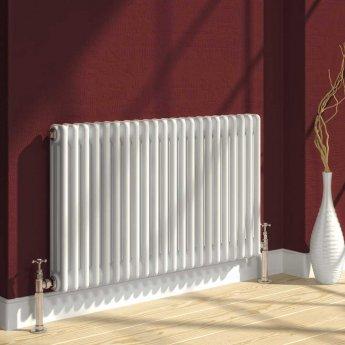 Reina Colona 3 Column Horizontal Radiator 500mm H x 1010mm W - White