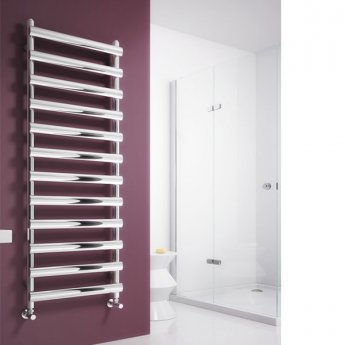 Reina Deno Designer Heated Towel Rail 992mm H x 500mm W Brushed Stainless Steel